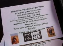 Pride in the park event, Born Free