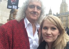 Dr Brian May and Kate on Conservation at fox hunting protest