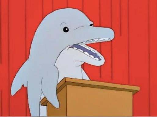 simpsons dolphin