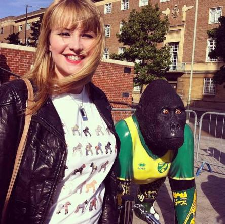 Kate on Conservation with go go gorilla