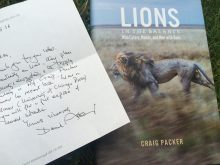 David Attenborough letter and Lions in the Balance