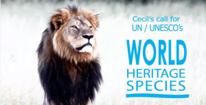 Cecil the Lion world heritage species