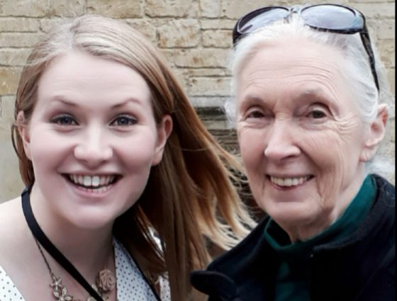 Jane goodall and kate on conservation at roots and shoots global summit